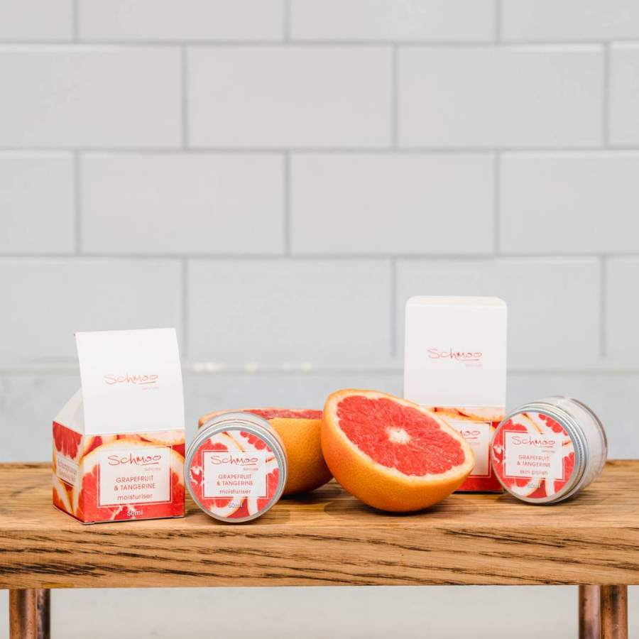 Schmoo Grapefruit & Tangerine skincare products
